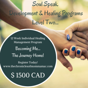 Soul Speak Development & Healing Programs- Level Two- Becoming Me-The Journey Home